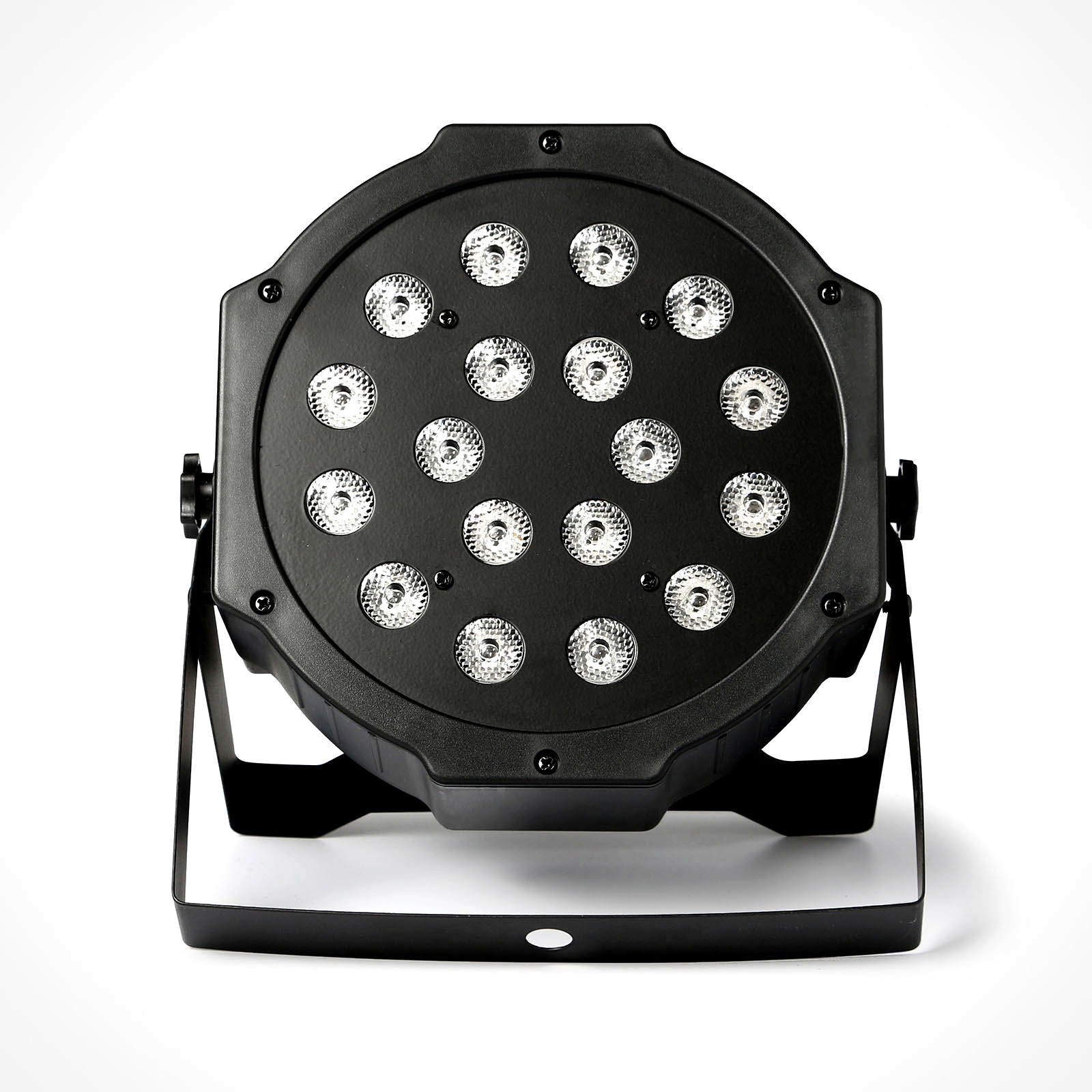 Led disco dj světlo flat par light 18 w rgb lampa